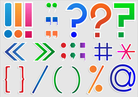 exclamacion: Conjunto de signos de puntuación y signos Vectores