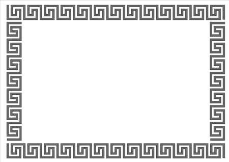 ancient greek: Greek frame on white background.Greek frame on white background. Illustration