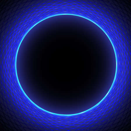 Abstract technology background with  circle border  Vector