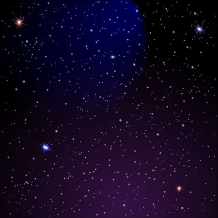 sterrenhemel: Abstract Space achtergrond. Stock Illustratie