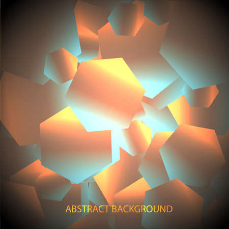 hexagonal shaped:  Abstract  background with shiny hexagons