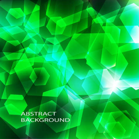Shiny geometric background in green color Stock Vector - 12072108