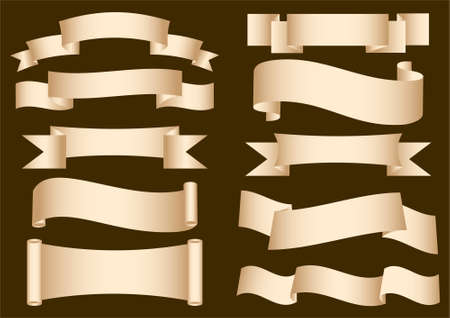 ancient scroll: Banner Ribbon Scroll. Vector collection Illustration