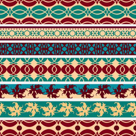 Set of  vintage borders.Vector eps10 Stock Vector - 12493805