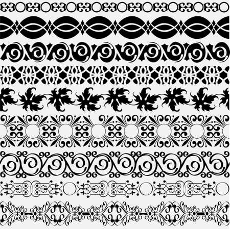 Collection of vintage borders for design. Vector eps10  Vector