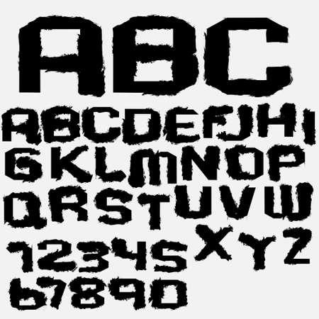 punctuation: Vector ink alphabet  Illustration