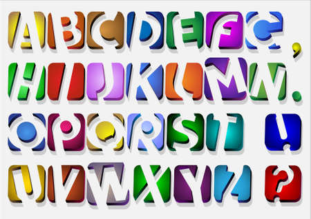 Colorful original Alphabet.Vector eps10 Vector