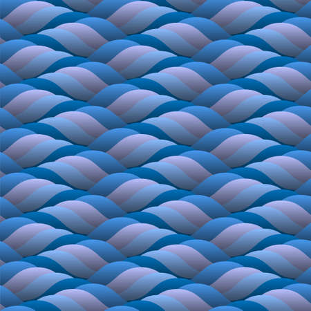 Abstract background of curled blue waves.Seamless vector  Vector