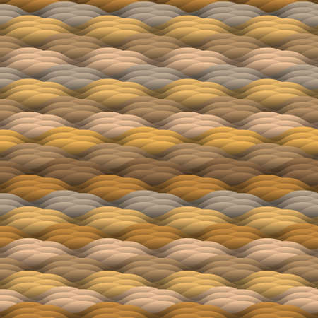 endless repeat structure: Endless texture in warm colors.Seamless vector abstract waves pattern Illustration