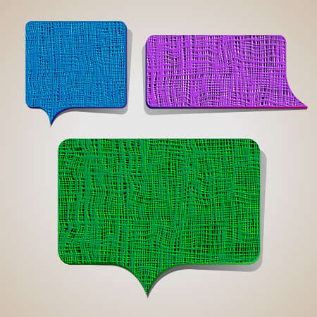 Set of textured talking bubbles.Vector eps10 Vector