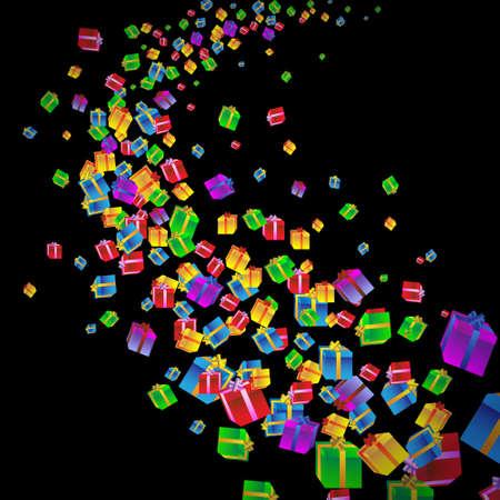 new day: Festa con sfondo colorato regalo boxes.Vector eps10