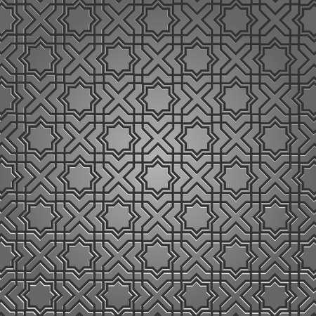 Metallic pattern on islamic motif. Vector illustration Stock Vector - 12493933