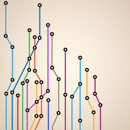 Résumé de fond d'un métro eps10 map.Vector