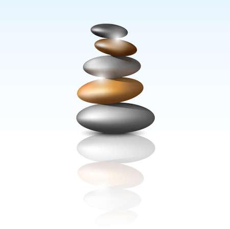 Zen stone tower.Vector meditation background Vector