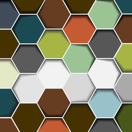 hexahedral: Abstract hexagon background.Vector eps10
