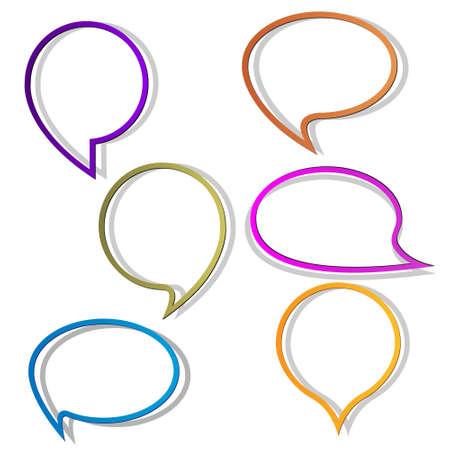 message bubble: Paper round bubble for speech.Vector eps10