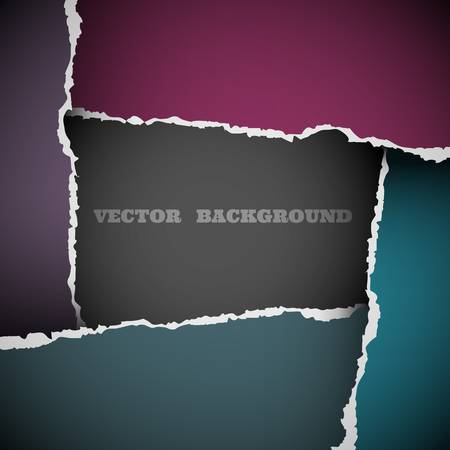 Background of torn paper.Vector eps10 Vector