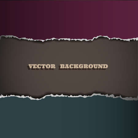 Border of torn paper. Vector eps10 Vector