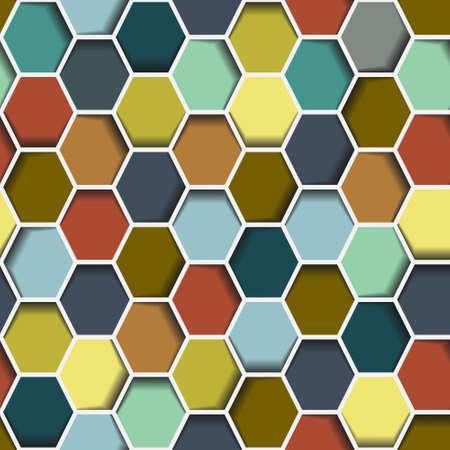 Seamless abstract hexagon background Vector eps10  Vector