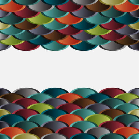 Structured abstract waves border Vector eps10 Vector