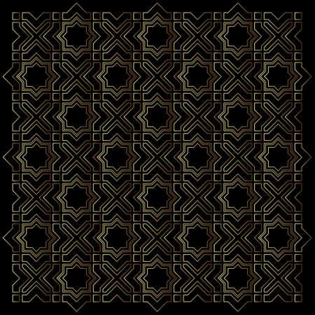 moroccan culture: Geometric Islamic pattern Vector background