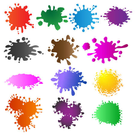Set of colored blots Vector eps10