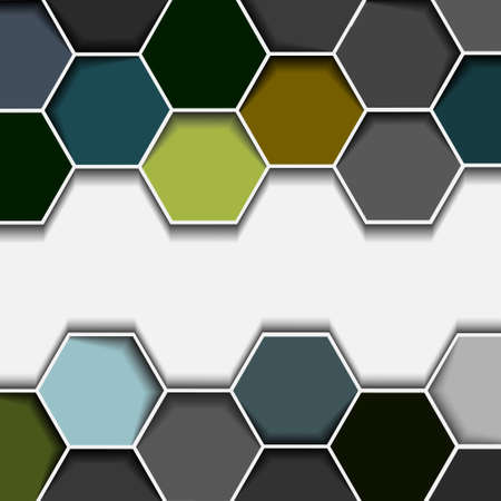 Abstract hexagon border.Vector eps10  Vector