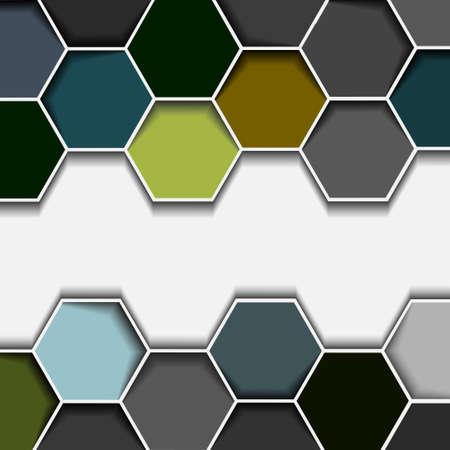 hexagon background: Abstract hexagon border.Vector eps10