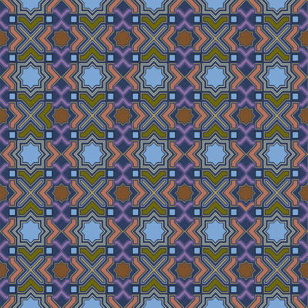 Arabic Seamless Pattern. Vector background Vector