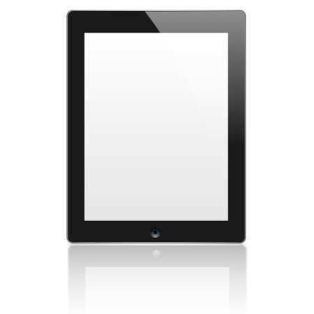 Black vector computer tablet. EPS10 Vector