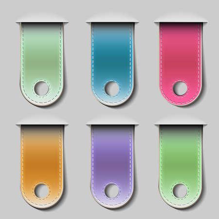 Stylish bookmarks.Vector eps 10 Stock Vector - 12825731