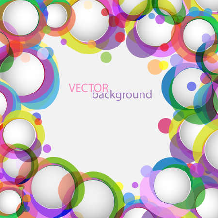 Abstract background with colorful circles.Vector eps10  Stock Vector - 12825692