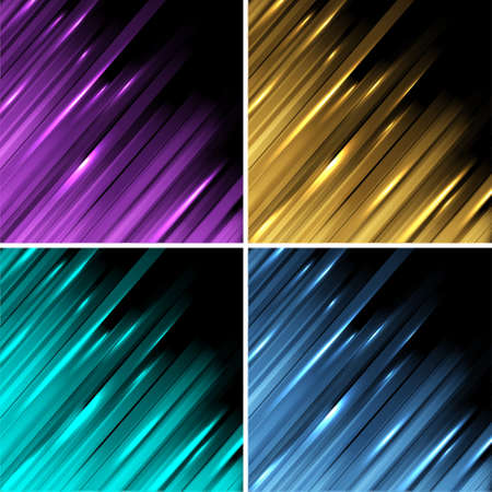 Geometric line abstract background. Vector set Stock Vector - 12825740