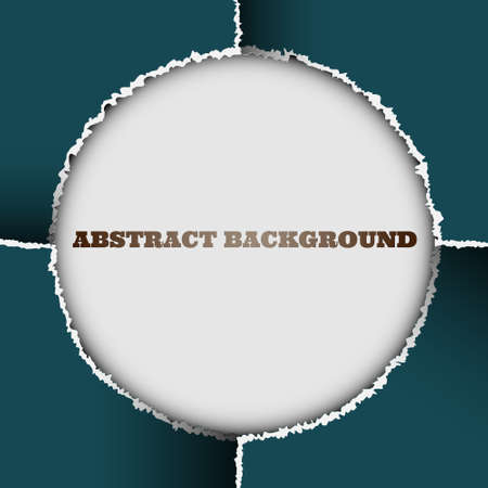 Round background of torn paper.Vector eps10 Vector