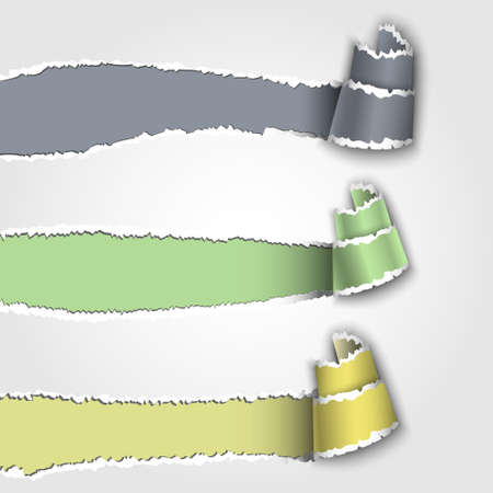 Three torn paper banners with space for text.Vector eps 10 Vector