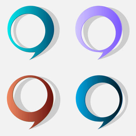 chatter: Four speech bubbles. Vector eps10