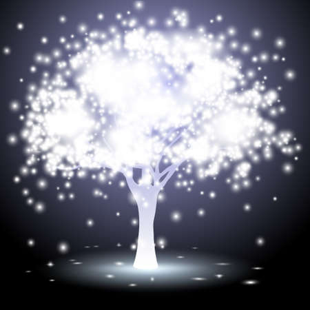 inspiration: Abstract tree made of lights.Vector eps10