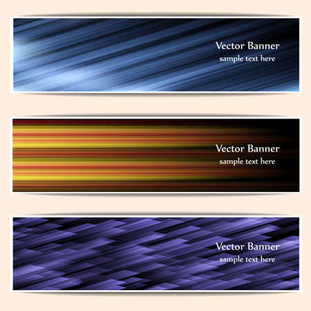 Set of abstract web banners,headers.Vector eps 10 Vector
