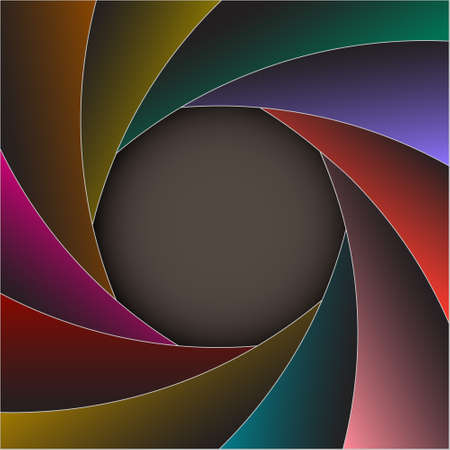 Colorful shutter photo frame.Vector eps10 Stock Vector - 12826872