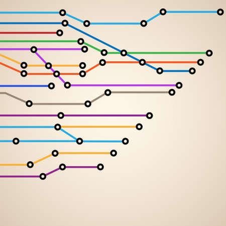 Abstract subway map Vector