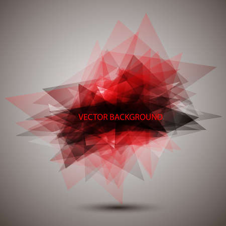 Modern geometric red background Stock Vector - 12967171