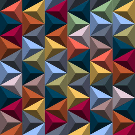 geometrical shapes: Multicolored background from pyramids