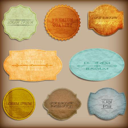 Old paper texture,vintage labels Vector