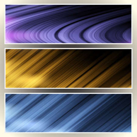 Three abstract web banners,headers Stock Vector - 12967189