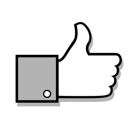 approval icon: thumbs up