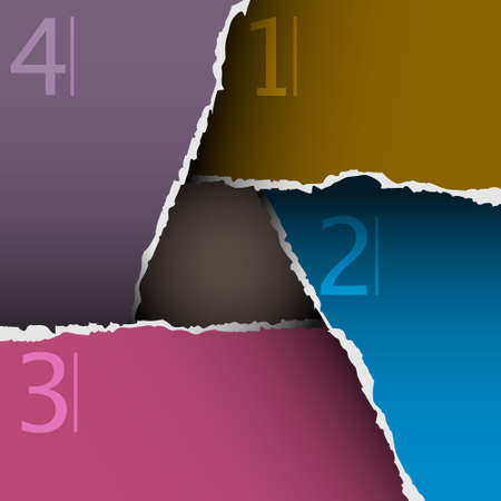 Torn paper number background Vector