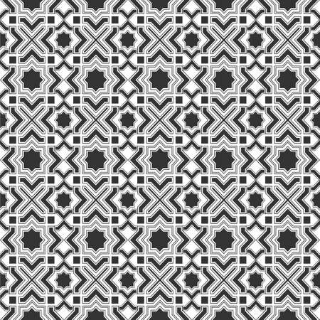 Monochromic Islamic pattern Vector
