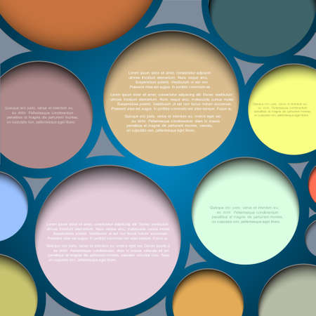 Abstract circle background with place for your text Stock Vector - 12967300