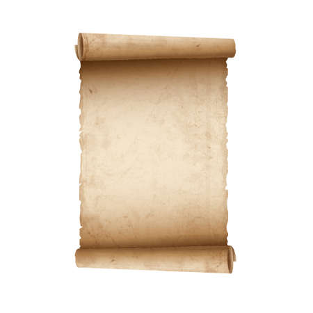 schriftrolle: Alte Blättern Papier Illustration