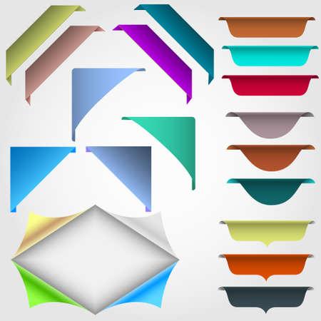 advertising design: set of web design elements Illustration